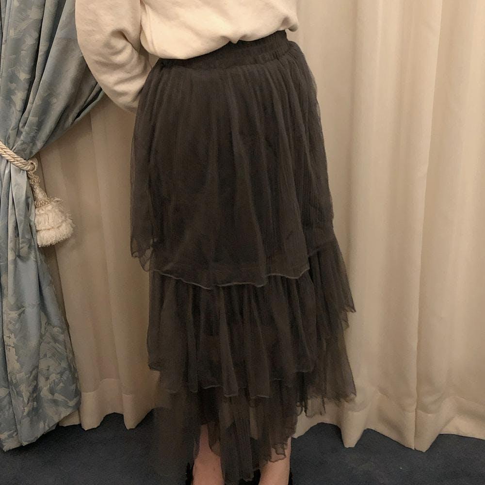 frill tulle skirt-0