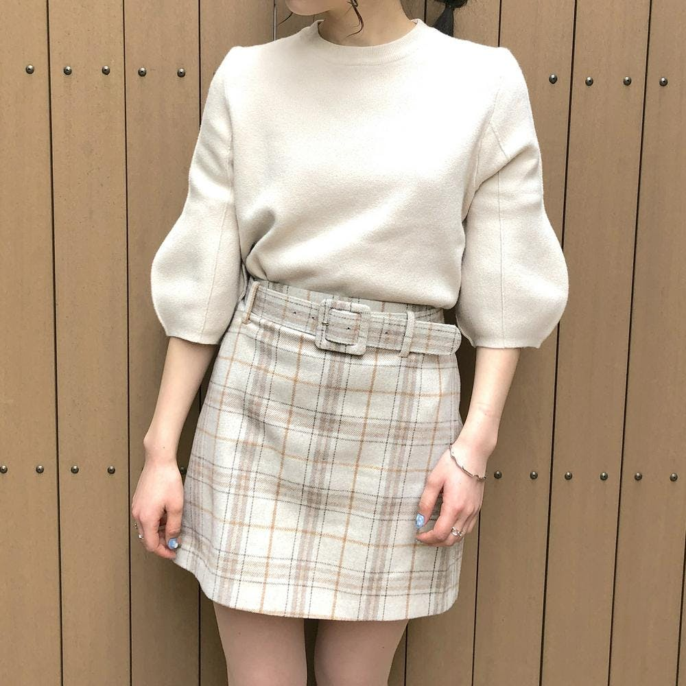 puff volume sleeve knit