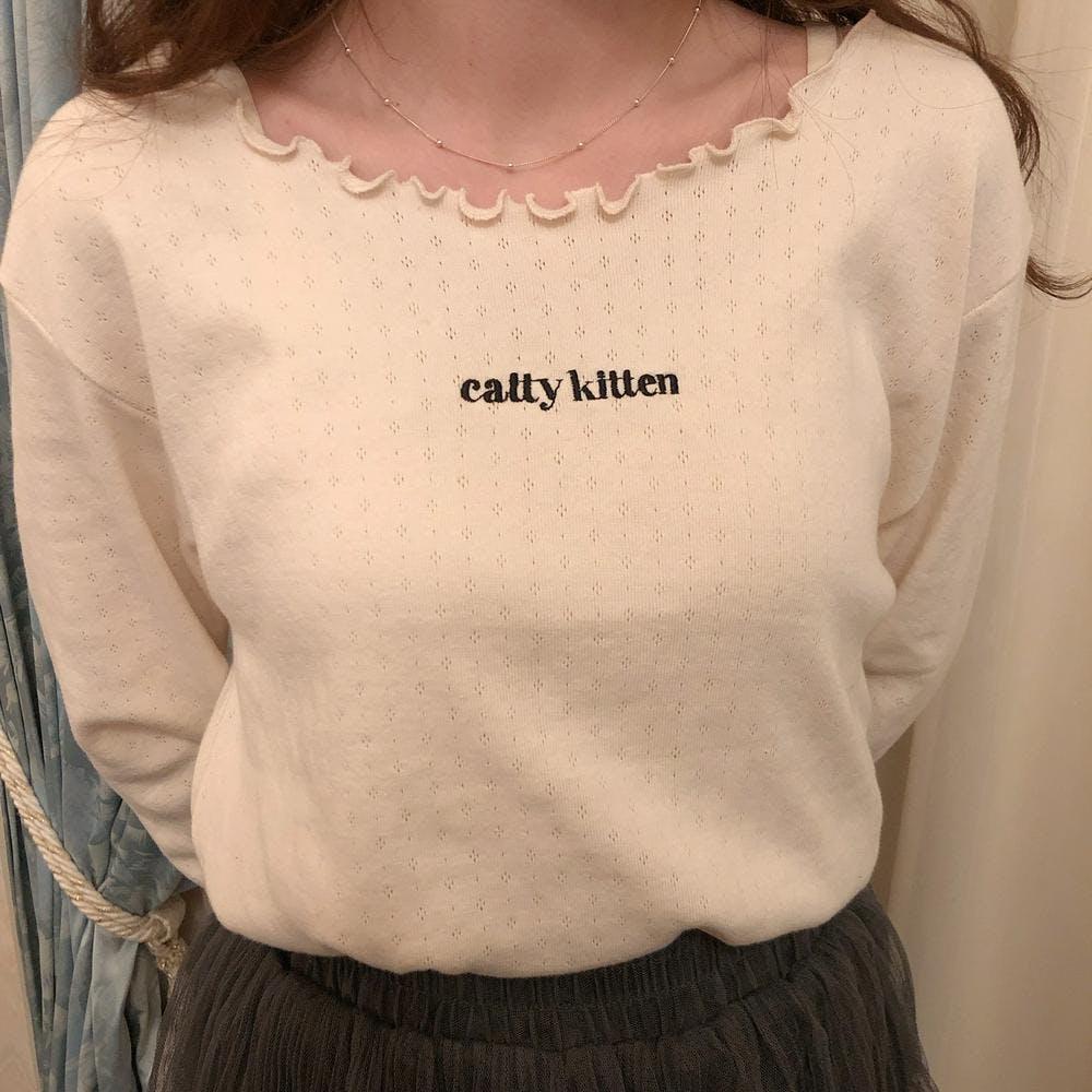 【4/24~順次発送】catty baby long tee