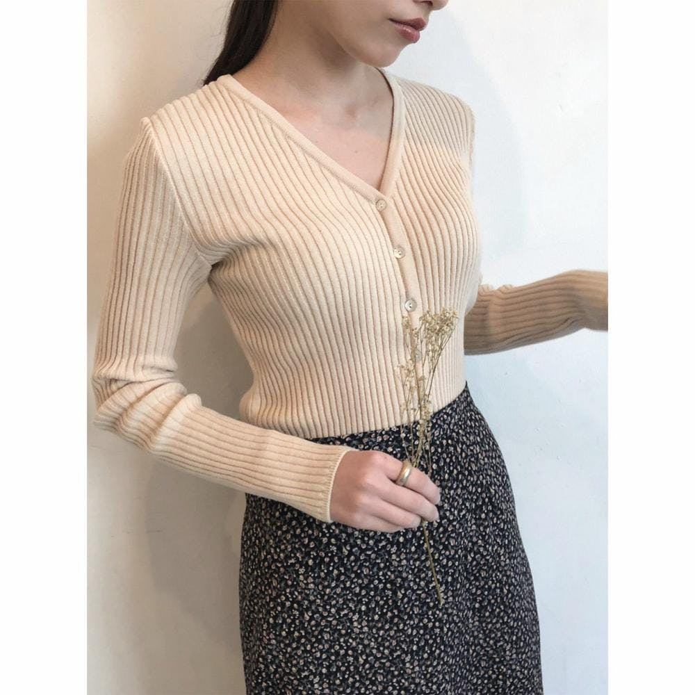 Vneck simple knit