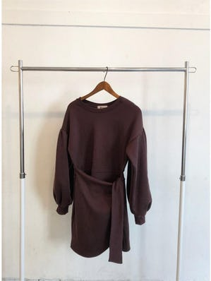 brown sweat one-piece