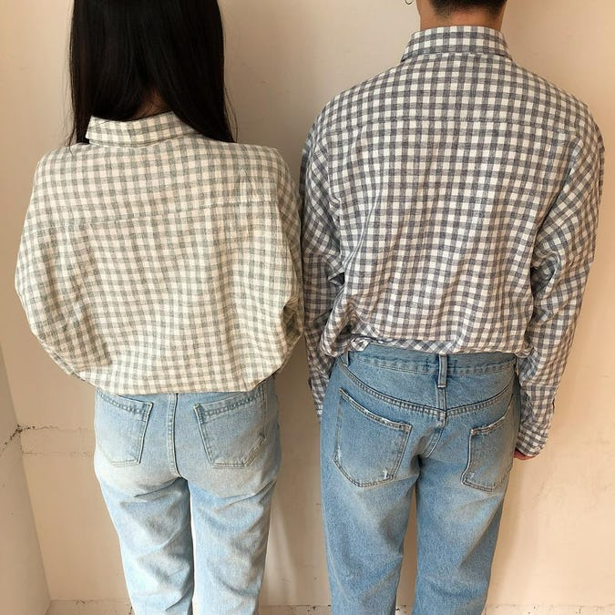 gingham check shirts