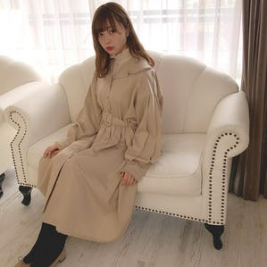 frill gather coat onepiece