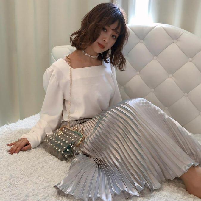 glitter long skirt