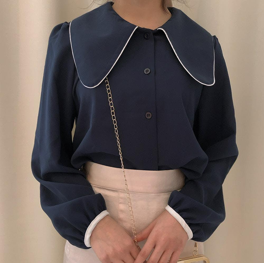 big collar blouse-0