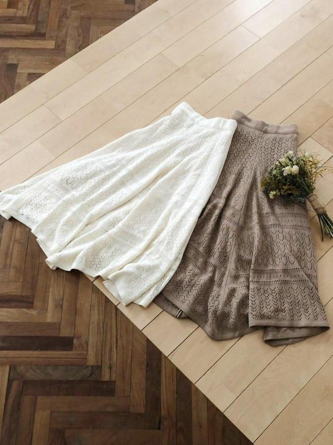 open work knit skirt
