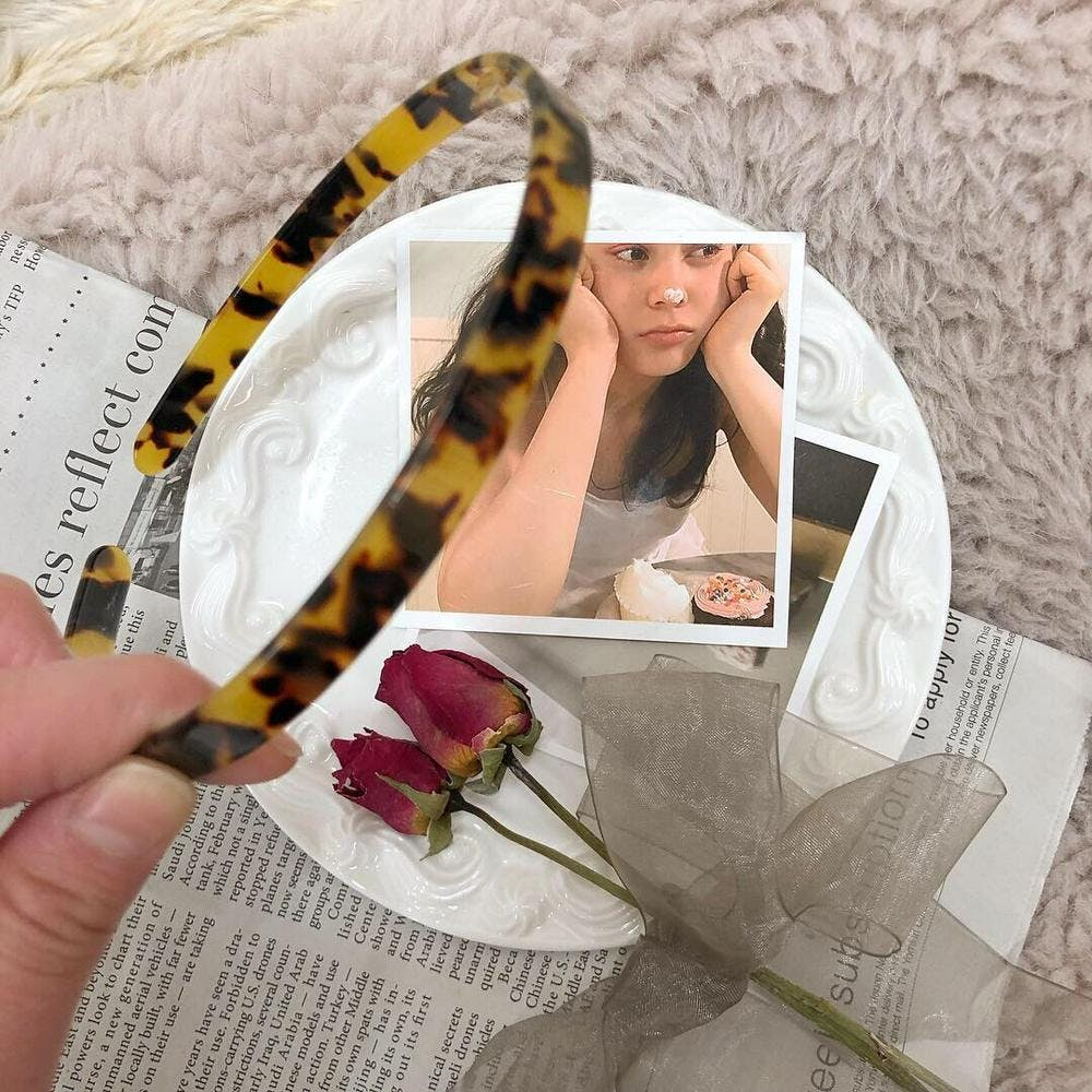 leopard hairband