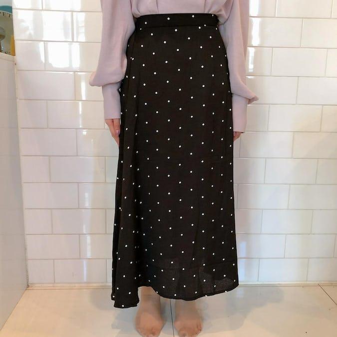 dot flare skirt-0