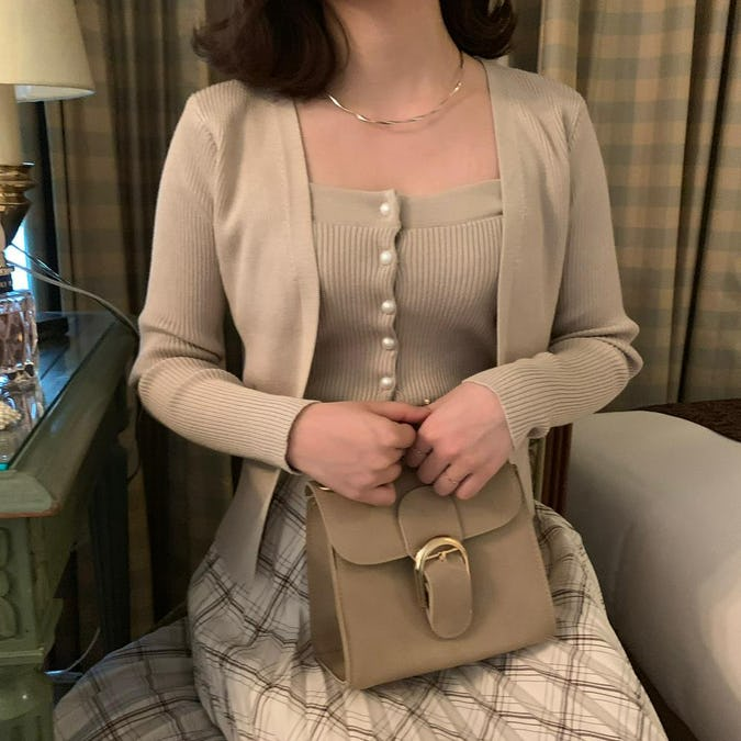 pearl cardigan set-0