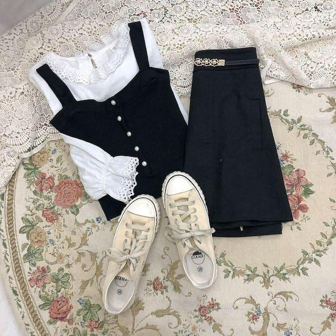 pearl cardigan set