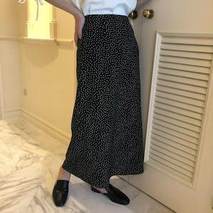 retro dot skirt