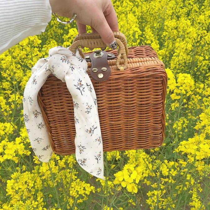 antique basket bag-0