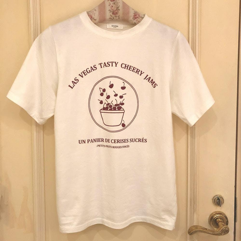 【5/21~順次発送】girly cherry Tshirt
