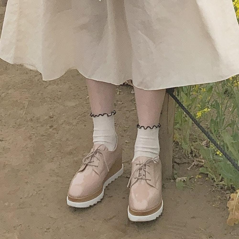 【5/21~順次発送】laceup platform shoes-0