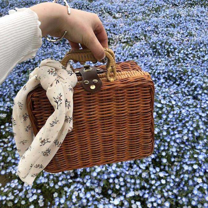 antique basket bag