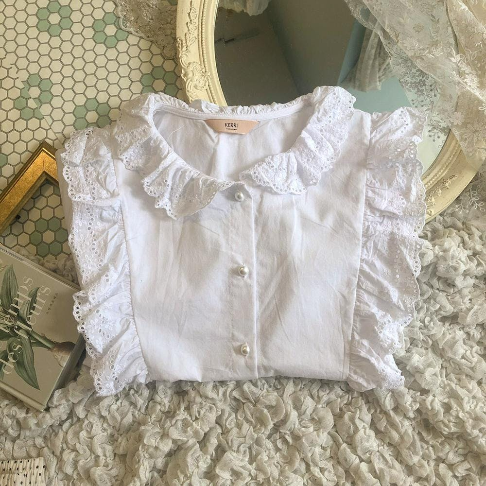 frill & pearl blouse