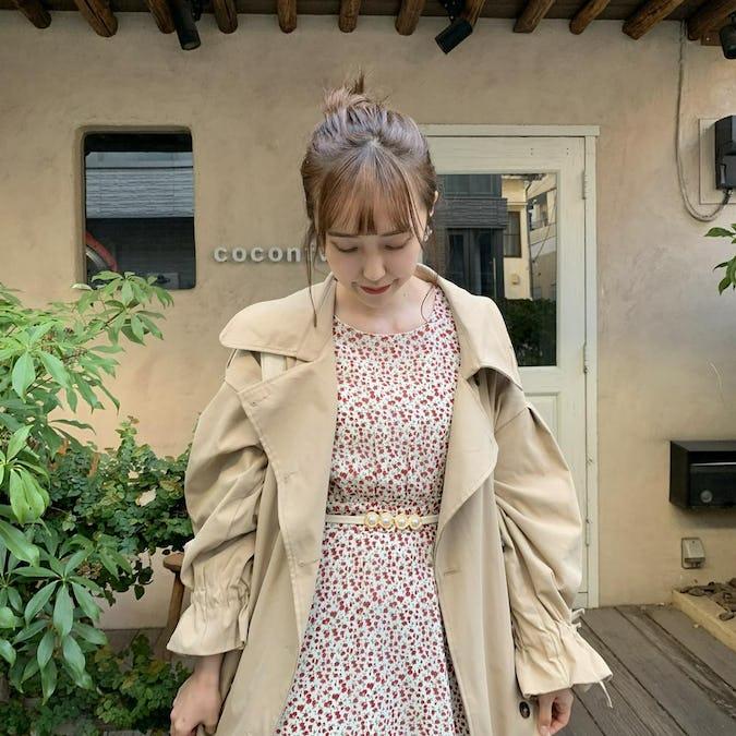 ribbon trench coat