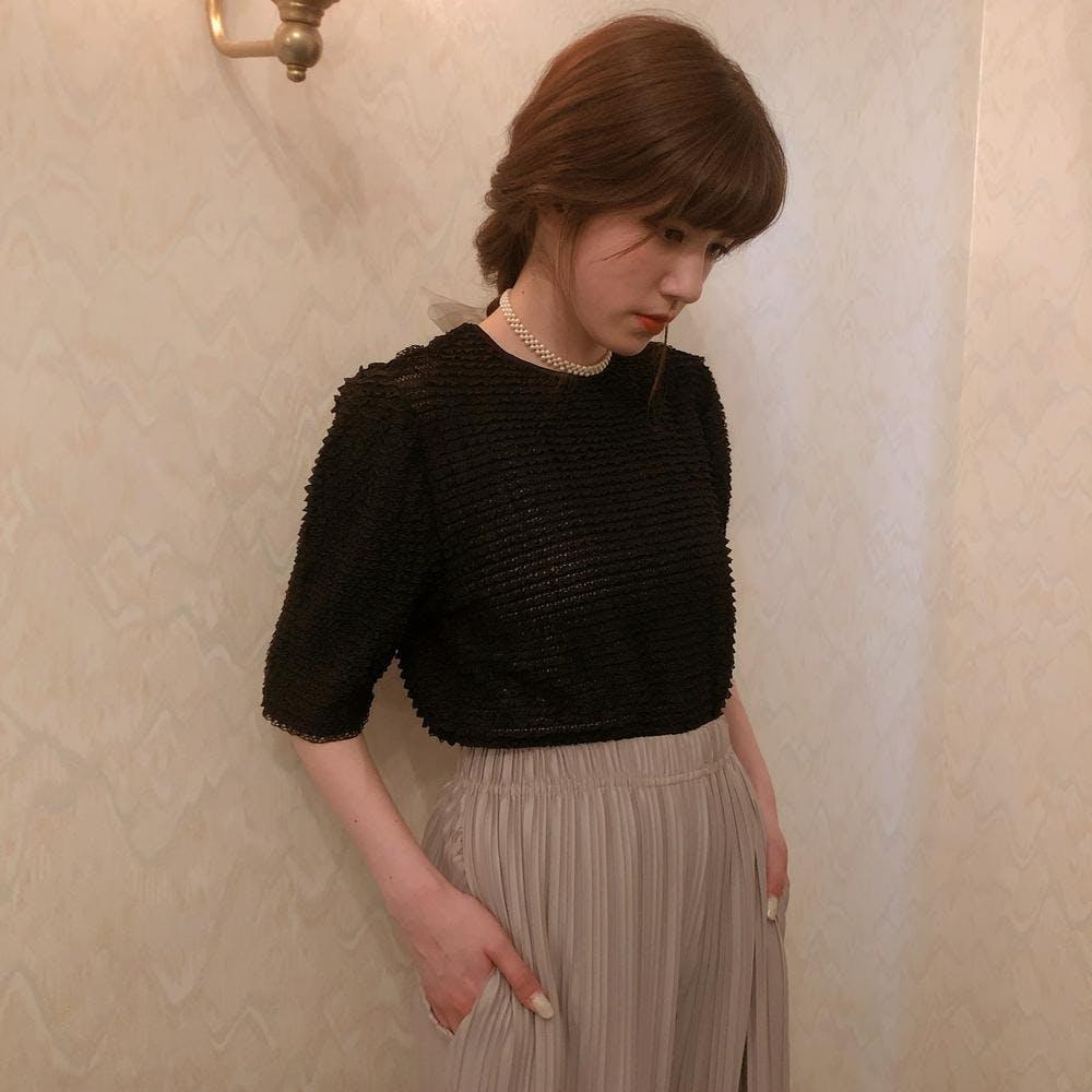 【5/21~順次発送】shiny wide pants