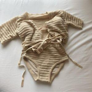 girly knit bikini