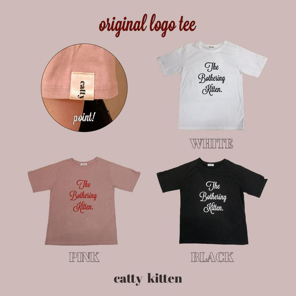 【5/21~順次発送】catty logo tee-0