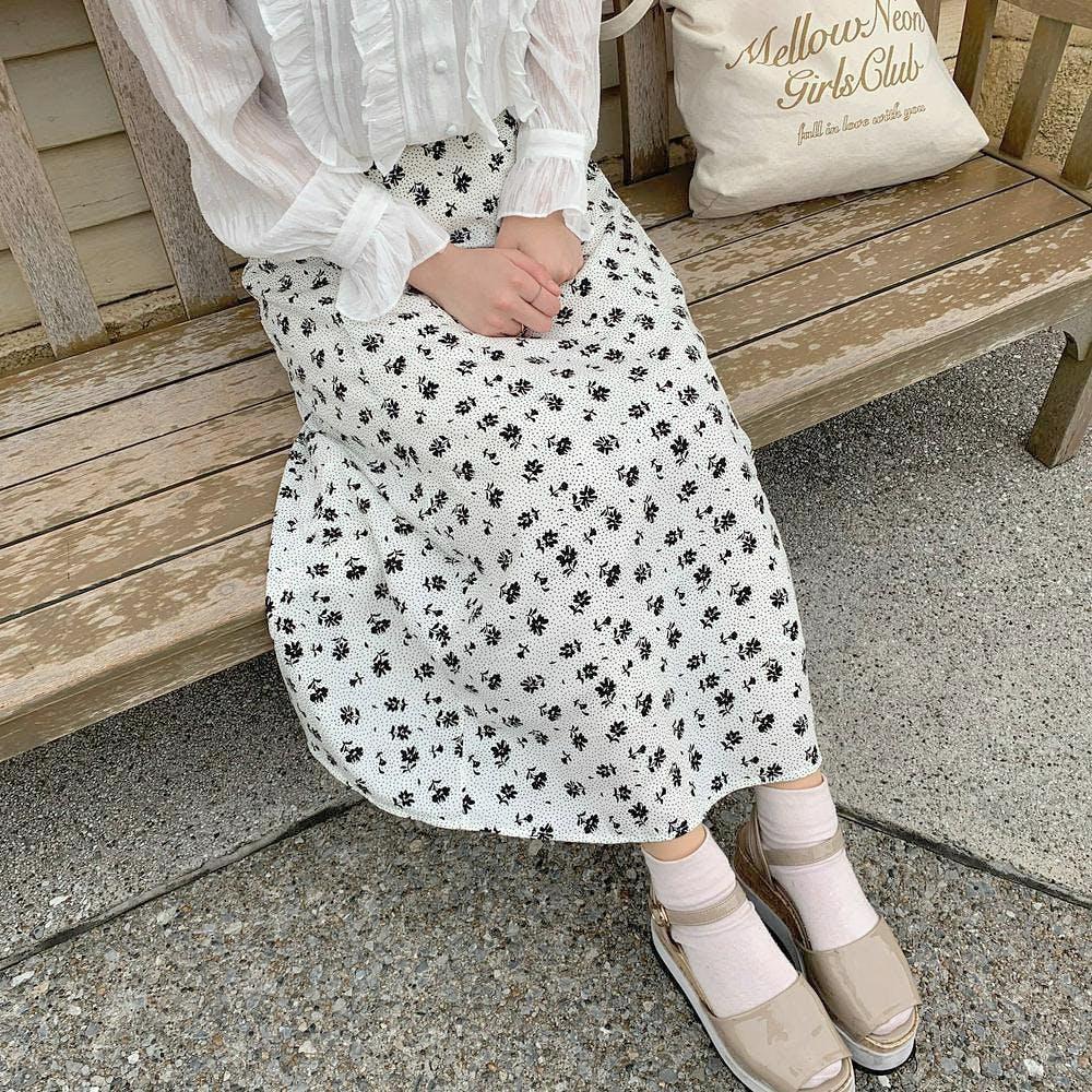 【5/21~順次発送】mellow flower skirt