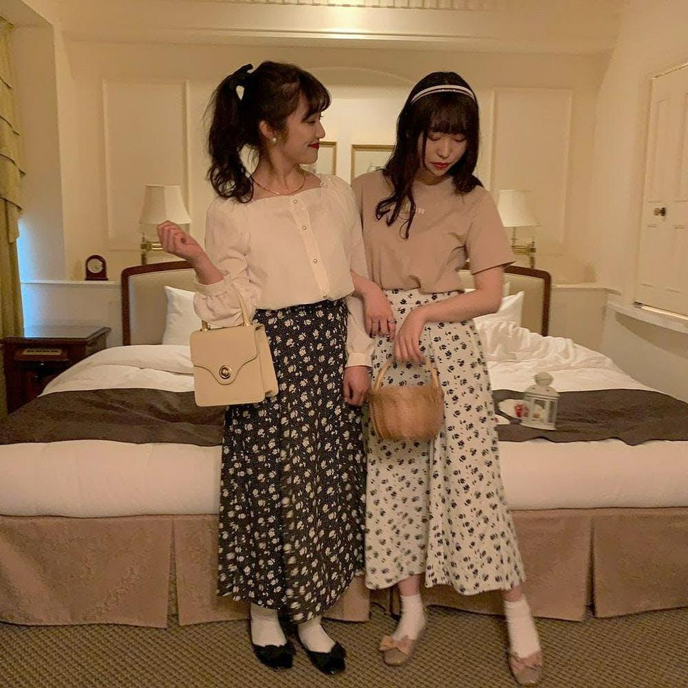 【5/21~順次発送】mellow flower skirt-0