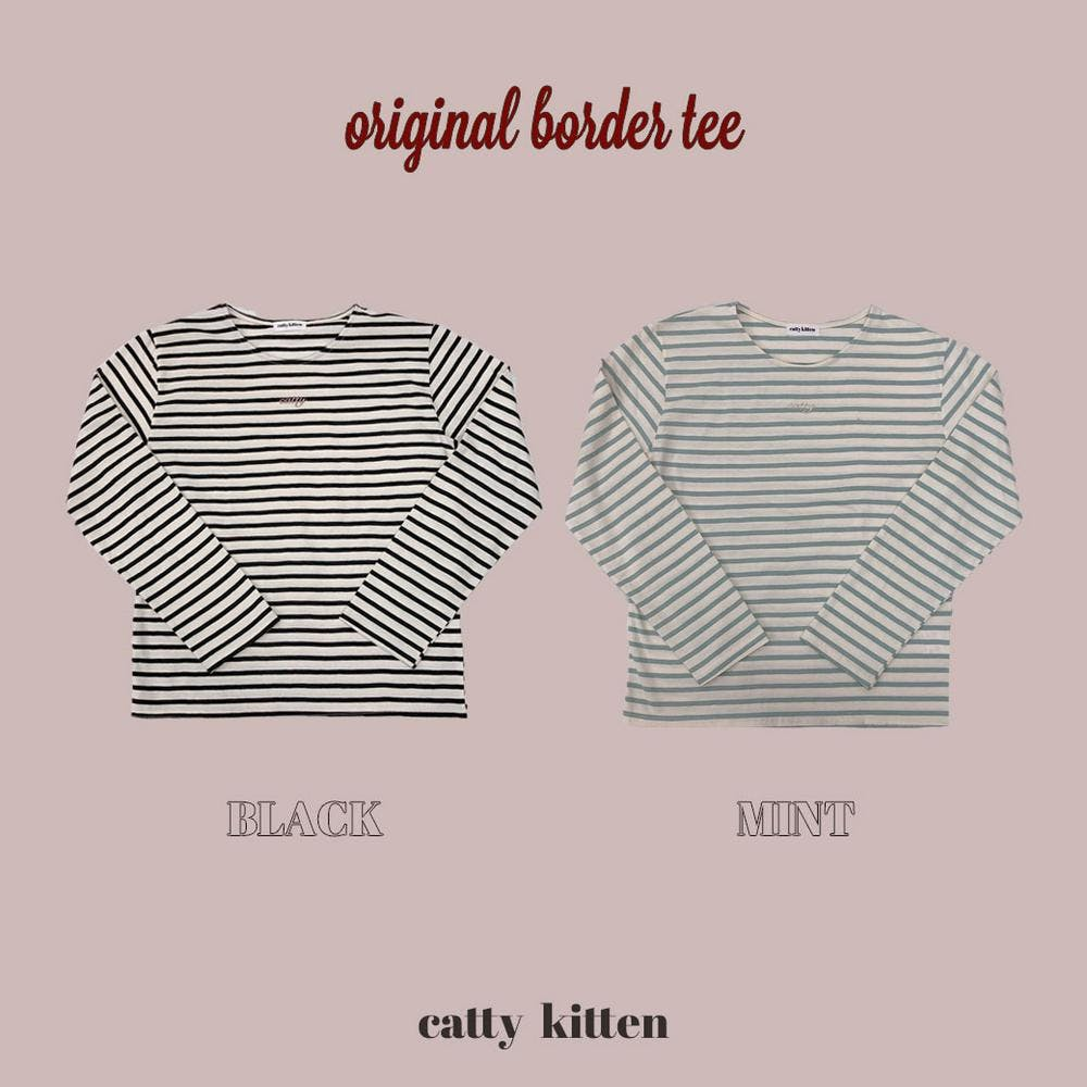 【5/21~順次発送】catty border tee