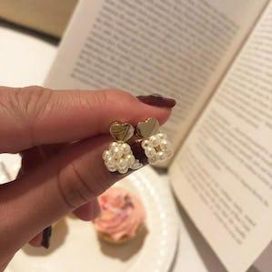 heart pearl pierce