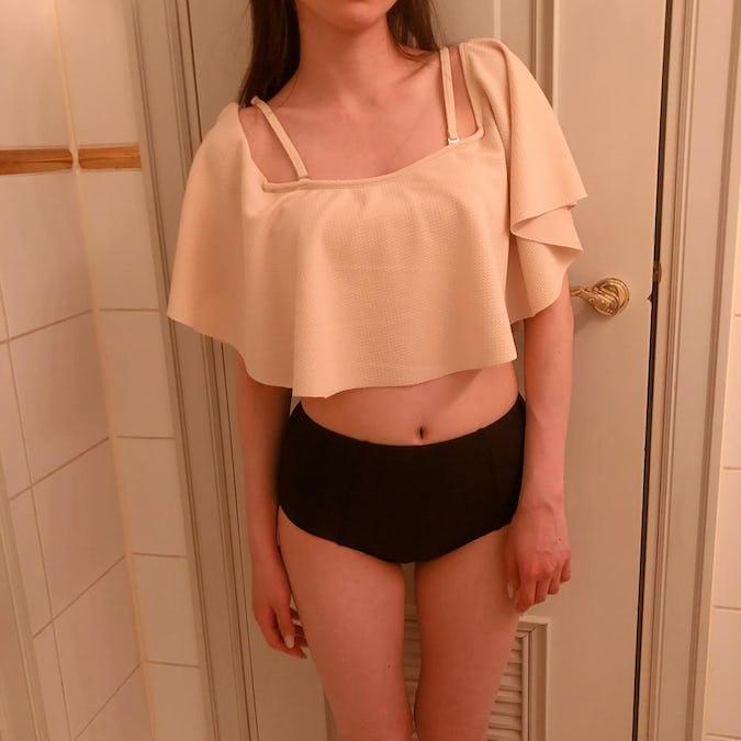 bi-color frill bikini