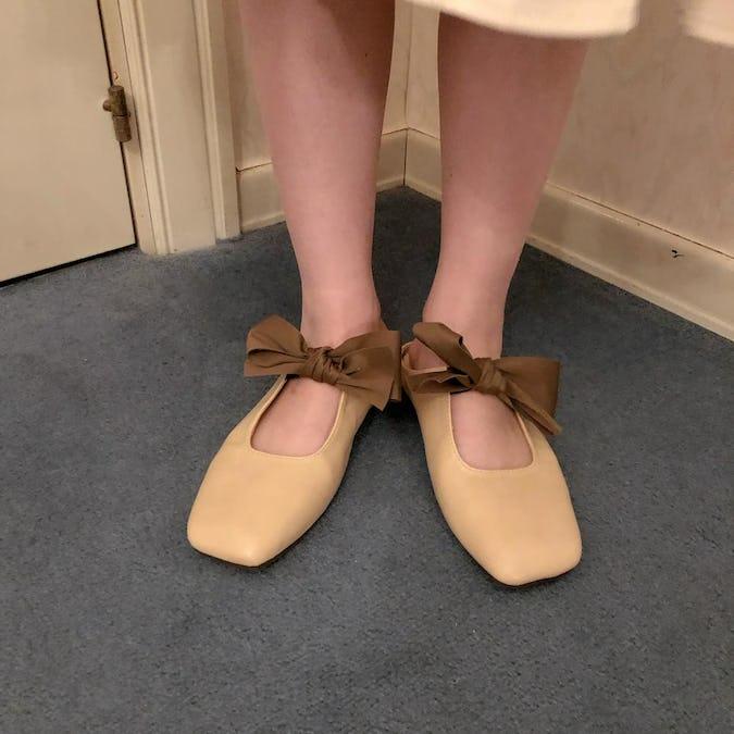 flat ribbon shoes-0
