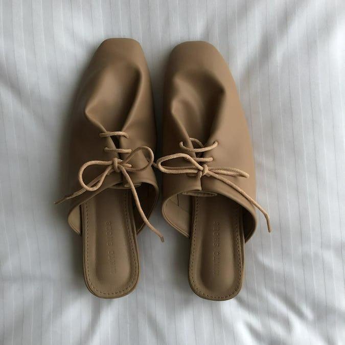 laceup slipper sandal