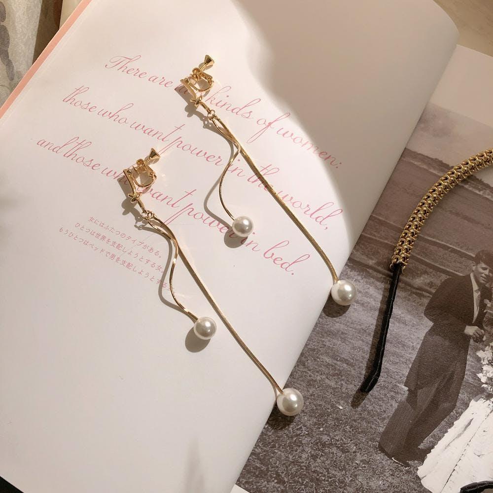 【5/29~順次発送】gold une earring