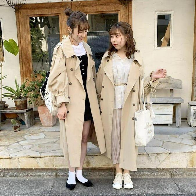 ribbon trench coat-0