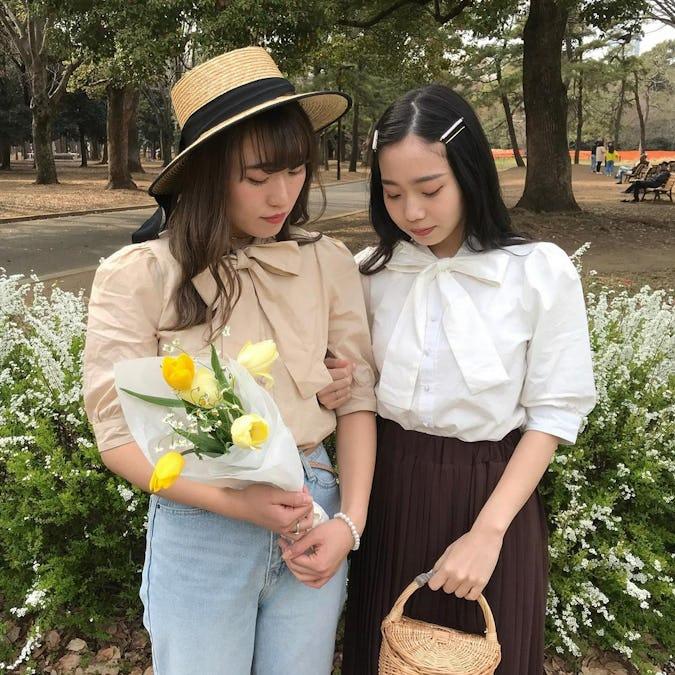 mellow's ribbon blouse