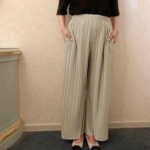 shiny wide pants
