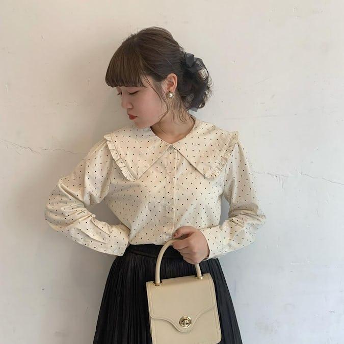 girly dot blouse-0