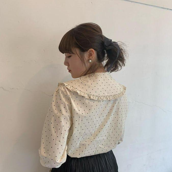 girly dot blouse