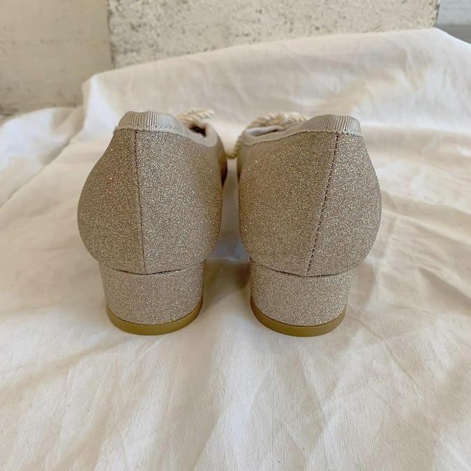 glitter ballet shoes