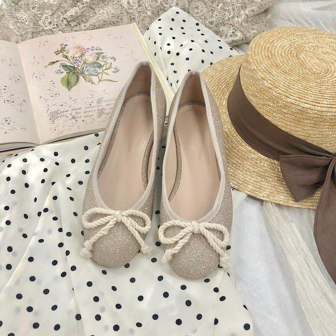 glitter ballet shoes-0
