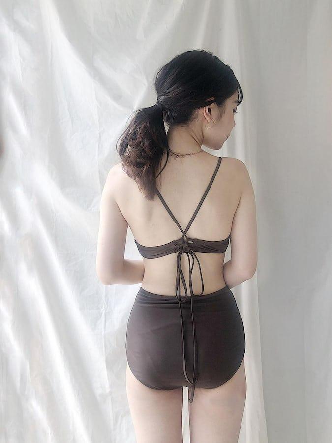 【6/20~順次発送】back cross swim wear