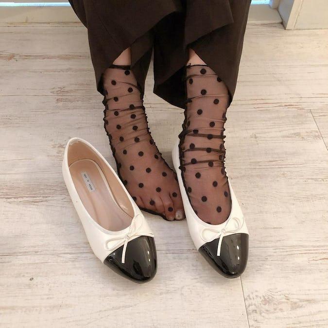 dot tulle socks