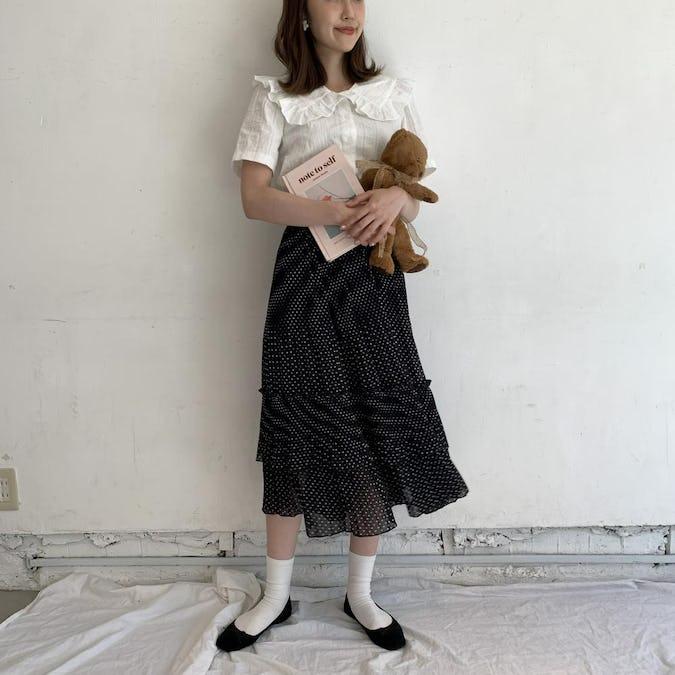 dot cancan skirt
