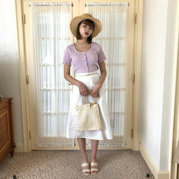 コットンフラワーAラインスカートの画像18枚目