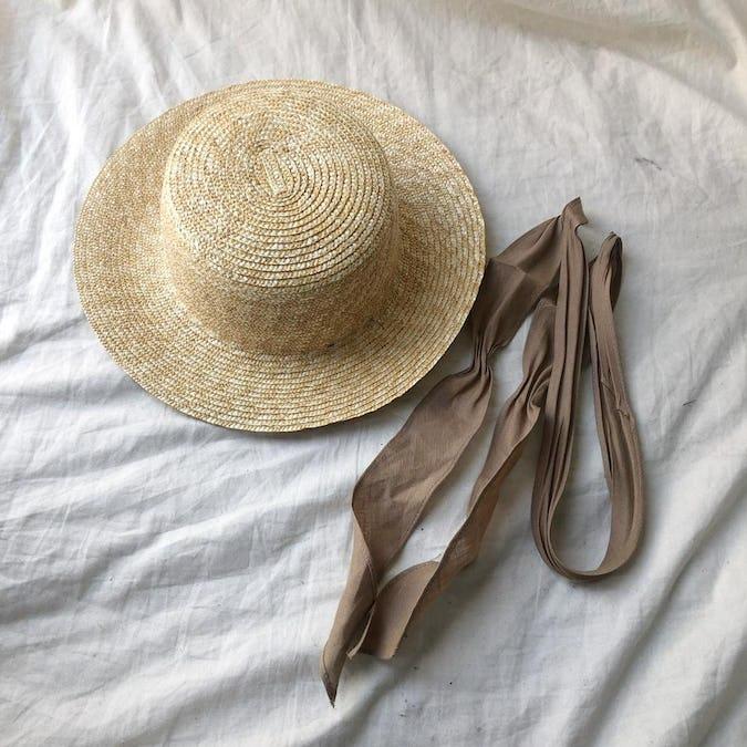 cancan ribbon hat