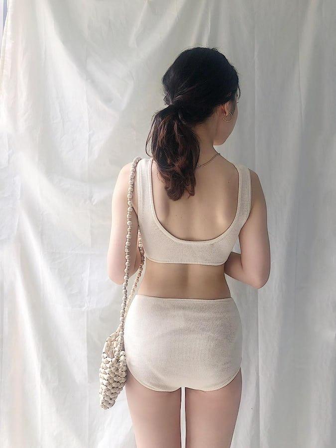 knit high waist bikini