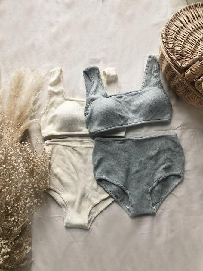 knit high waist bikini-0
