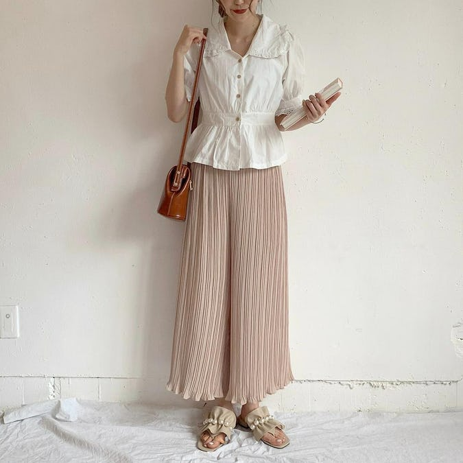 shirring long pants