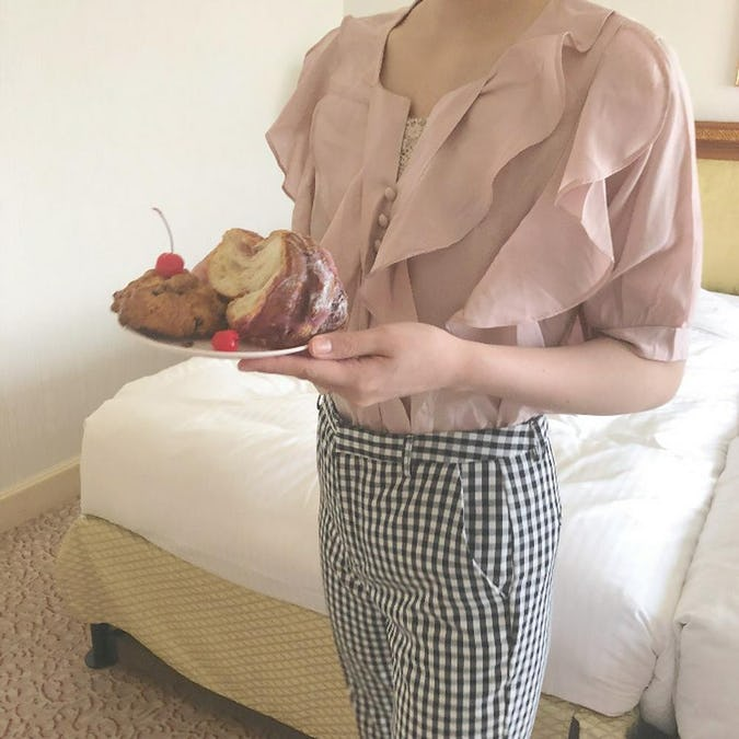 frill frill blouse