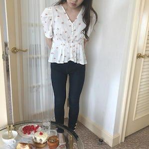 parisienne flower blouse