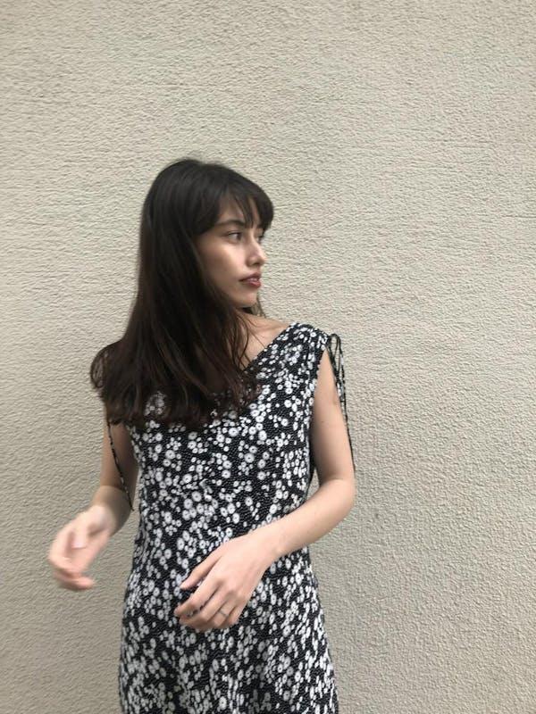フラワードットロングドレスの画像15枚目